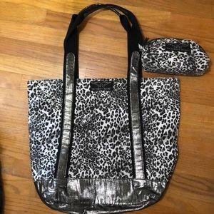 Victoria secret leopard tote and pouch